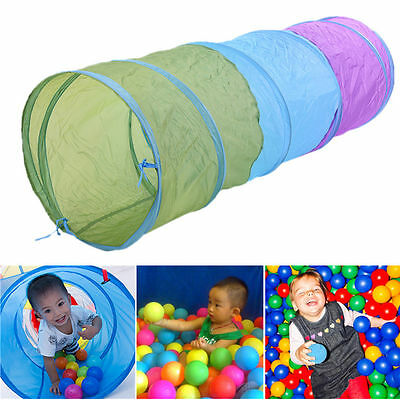 1.4M Colorful Kids Toddler Tunnel Pop Up Play Tent Indoor Outdoor Play Tube