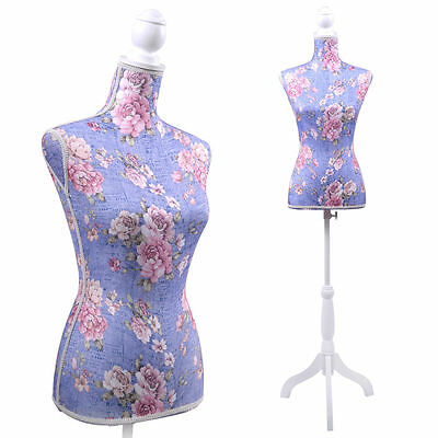Female Mannequin Torso Clothing Dress Display W/White Tripod Stand New Purple