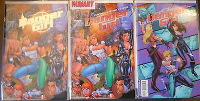 Danger Girl lot of 10 comics~rare variants + gold editions~J Scott Campbell~NM