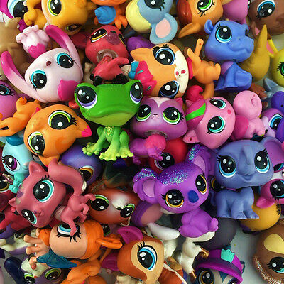 Hasbro LPS Random 20PCS Lot - Littlest Pet Shop Animal Figure Boy Girl Toy Gift