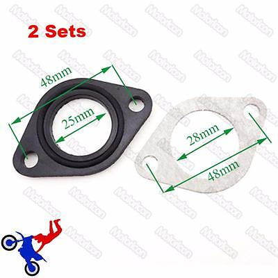 2x Manifold Intake Pipe Gasket For 110cc 125cc 140cc Chinese Pit Dirt Bike