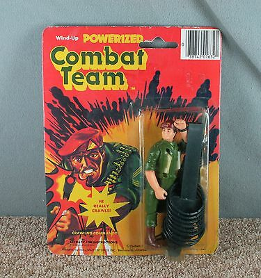 Wind-Up Powerized Combat Team Army Soldier Crawling Commando Toy Figure 1982