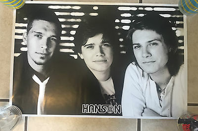 HANSON POSTER from Live & Electric Tour 2005 - NEW, 12.5x19, Black & White, RARE