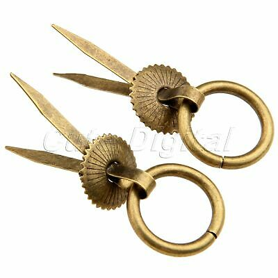 2/10pcs Antique Brass Jewelry Box Chest Cabinet Drawer Pull Handle Knobs Ring