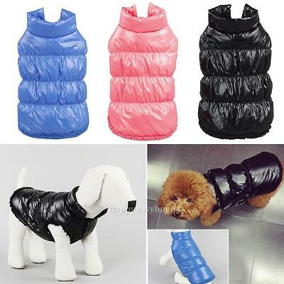 Winter warm Pet Dog Coat Down Jacket Vest Puppy Clothes Apparel Puppy Costume