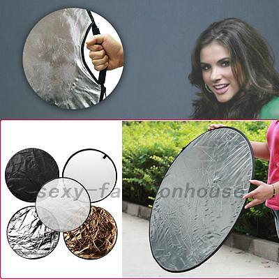 60cm 5 in 1 Photography Studio Multi Photo Disc Collapsible Light Reflector