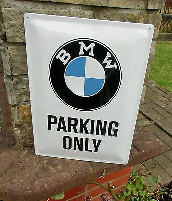BMW Parking Only - LARGE Official Wall Sign - Made in Germany - Licensed by BMW