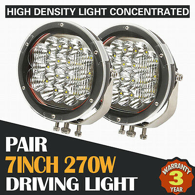 2X 7Inch 540W Cree Led Driving Light Bar Offroad Replace Hid Spot Combo 4Wd Atv