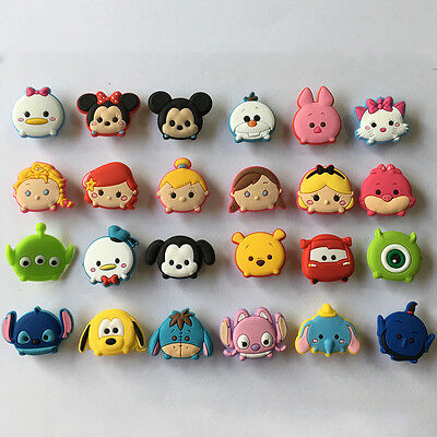 100pcs Tsum Tsum PVC Shoe Charms Accessories Fit Cro c&J ibbitz Christmas Gift