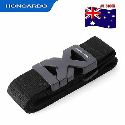 2x Adjustable Travel Luggage Belt Suitcase Polyster Strap Band ABS buckle Black