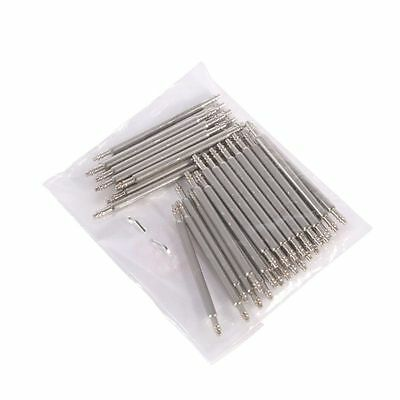 Stainless Steel Watch Wrist Band Spring Bars Strap Link Pins Tool 12-26mm 20pcs
