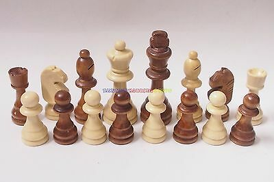 New Wooden Chess Set 32 Pieces (Chess Only) 6 Different Size Available 2 Colour