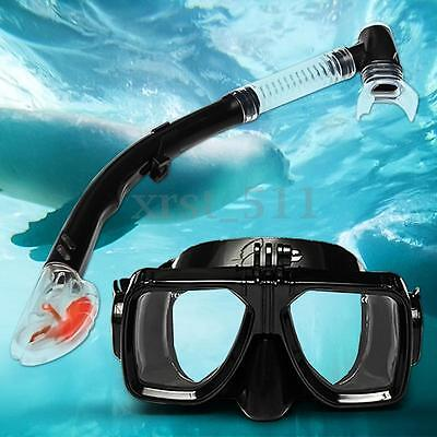Tempered Glass Scuba Snorkeling Swimming Diving Mask Snorkel For Gopro Hero 4 5