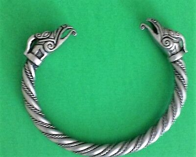Draig Celtic Dragon Pewter Bracelet! New Scottish Irish Welsh Viking