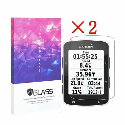 9H Hardness Tempered Glass Screen Protector for Garmin Edge 520(2 Packs)