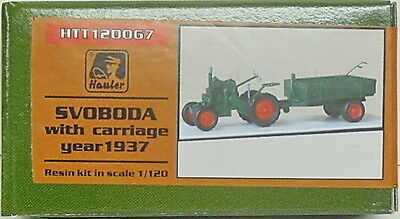 Tractor Svoboda with trailer 1937, Hauler, 1/120, TT, Resin , Etched parts NEW