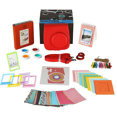 10 in 1 Instant Camera Accessories Bundles Set for Fujifilm Instax Mini 8 Red