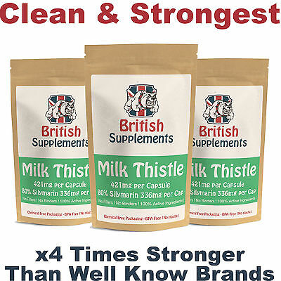 Milk Thistle Capsules Liver Detox, Hang Over Cure, Gall Bladder Function UK Made