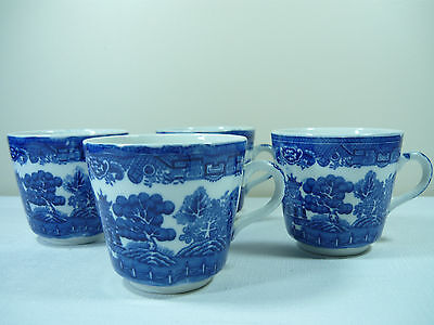 Adderley Willow Tea Cups X 4