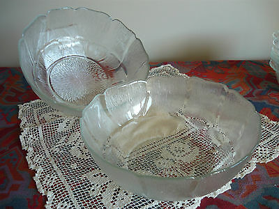 2 X Vintage Salad/dessert Bowls Made In  Indonesia