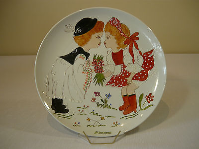 "Hand Painted Plate By  ""margaret Kaman"""