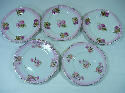 5 X Sweet Little Flower Plates