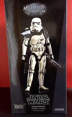Sideshow Star Wars Sandtrooper Corporal Store Exclusive 1:6 Scale Box Hot Toys