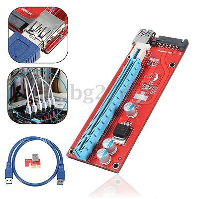 10 sets USB 3.0 PCI-E Express 1x to16x Extender Riser Board Card Adapter Cable