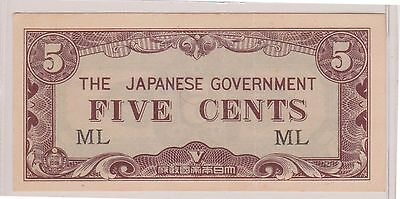 (WAE-22) 1942 Japan 5c invasion money bank note (C)