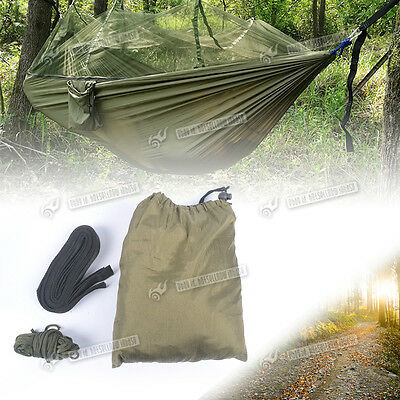 Jungle Travel Camping Garden Strong Compact  Hanging Bed Hammock + Mosquito Net