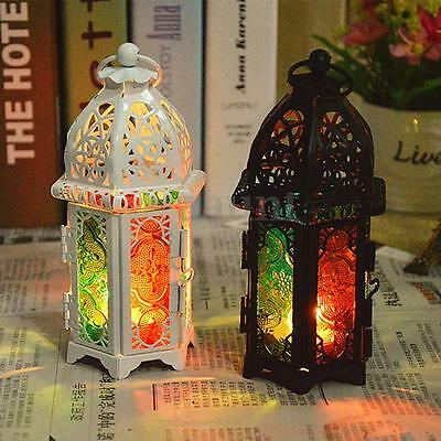Vintage Hollow Hanging Candle Holder Candlestick Lantern Stand Home Decoration