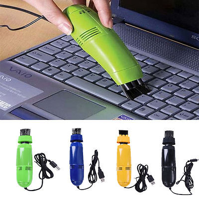 USB Mini Vacuum Cleaner For Laptop PC Computer Keyboard With Cleaning Brusher