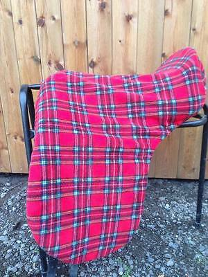 SADDLE COVER Red Tartan fleece saddle cover, ALL SIZES