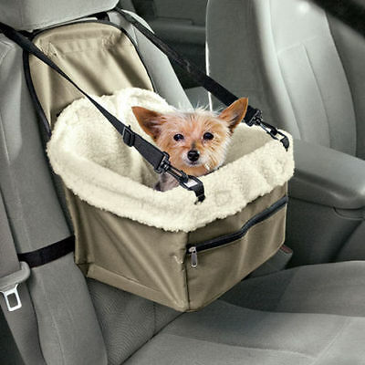 Folding Travel Booster Seat Bag for Cat Puppy Pet Car Seat Carrier Safety Belt