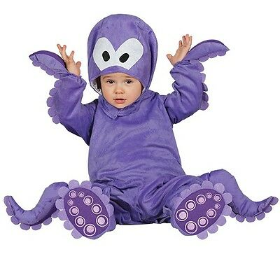 Baby Girls Boys Purple Octopus Sea Fancy Dress Costume Outfit 6-12-24 months
