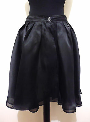 MARELLA Gonna Donna Seta Balze Woman Silk Flounce Skirt Sz.S - 42