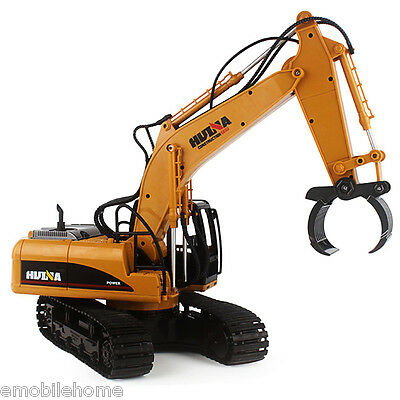 HUINA 1570 2.4GHz 16CH RC Alloy Log Grabbing Machine with Arms Auto Demonstratio