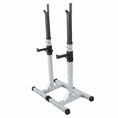 Adjustable Heavy Duty Gym Fitness Squat Barbell Power Rack Weights Bench Stands