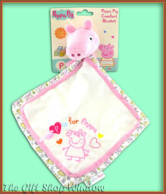 Peppa Pig Comfort Blanket - Super Soft Plush Baby Safe P Is For Peppa Comforter