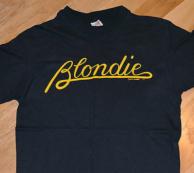 RaRe *1979 BLONDIE* vtg punk rock tour concert t-shirt (S) 70's NYC Debbie Harry