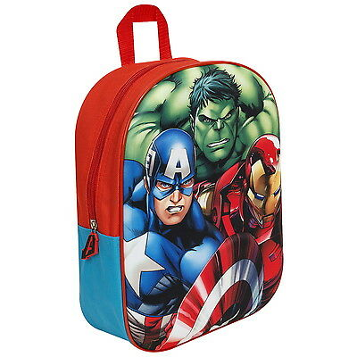 NEW OFFICIAL Marvel Avengers Boys Kids 3D / EVA Backpack / Rucksack / School Bag