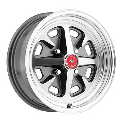Legendary Wheel Co. LW40-50644B Mustang 400 15x6 Charcoal 65-73