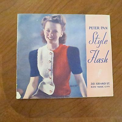 1941 RARE Vintage Peter Pan Style Flash Catalog/Knit Color Yarn Women Fashion NY