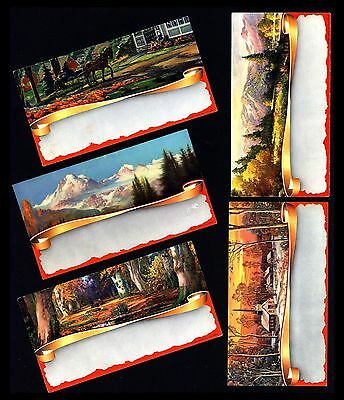 "Antique 1940's 'beautiful Scenic"" Ink Blotter Salesman Samples (Lot Of 5)"