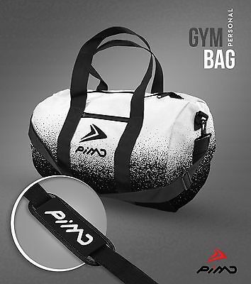 PIMD Personal Gym Bag - White/ Black Grunge MENS GYM SPORT HOLDALL WORKOUT WOMEN