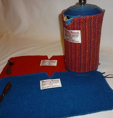 Harris Tweed & Liberty Fabric Cafetiere Cosy/blanket Cold Press Cover 1L/8 Cup
