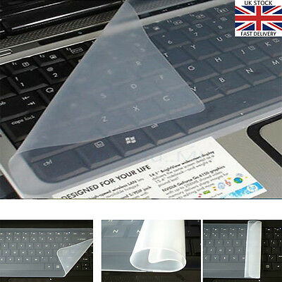 "Universal Silicone Keyboard Protector Skin Cover for15"" 17"" Laptop Notebook UK"