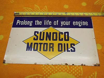 Sunoco Original Motor Oil Rack Sign 1940's 1950's  #1