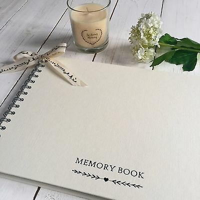 A4 Memory Condolence Book for Funeral or Celebration of Life