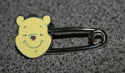 Disney Pin Winnie The Pooh Safety Pin Head Shaped Pins Trading